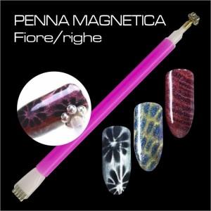 Penna magnetica fiore - righe